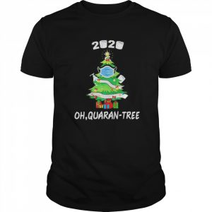 2020 Quarantine Christmas Tree Ornament Mask  Classic Men's T-shirt