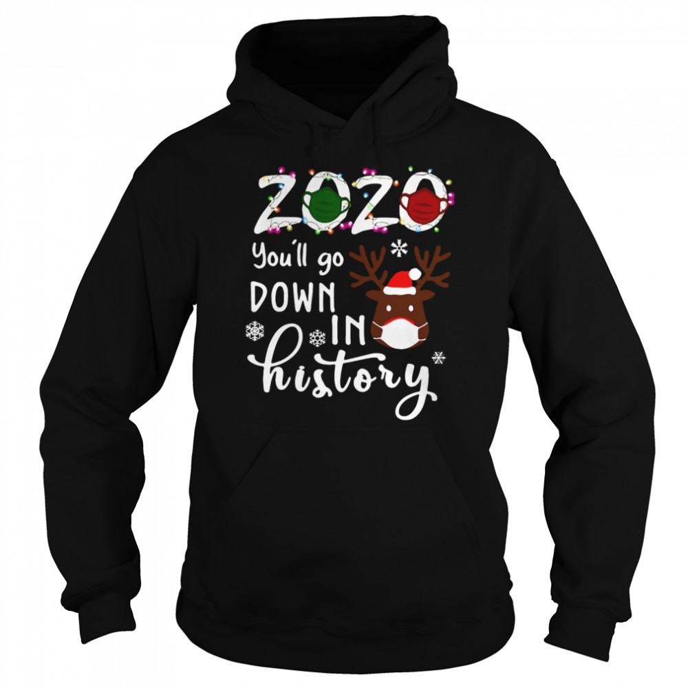 2020 You'll Go Down In History Christmas  Unisex Hoodie