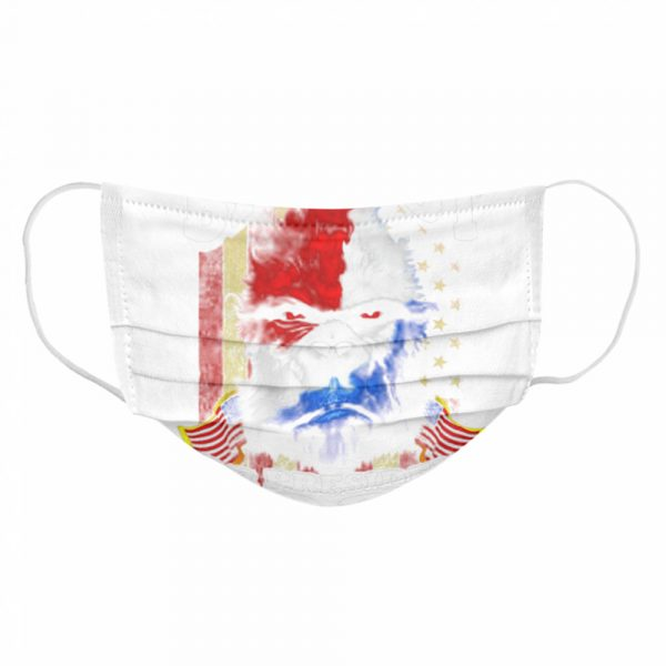 Bigfoot For President 2020 American Flag  Cloth Face Mask