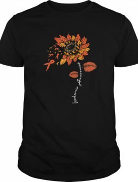 FU Leukemia Awareness Sunflower Orange Ribbon Sarcasm shirt