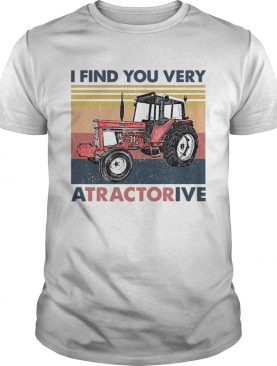 I Find You Very Atractorive Vintage shirt