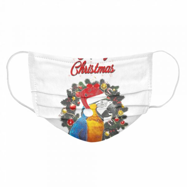 Parrot Merry Christmas  Cloth Face Mask