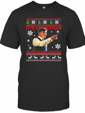 Peaky Blinders Thomas Shelby Its Christmas So No Fucking Fighting Ugly T-Shirt