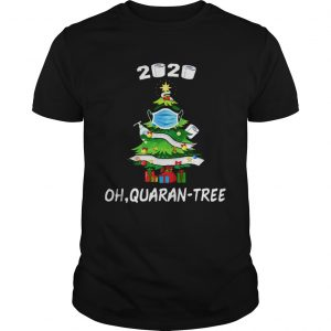 2020 Funny Quarantine Christmas Tree Ornament Mask  Unisex