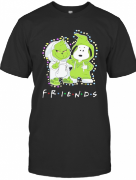 Merry Christmas Grinch And Snoopy Friends T-Shirt