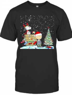 Snoopy Woodstock And Charlie Brown Christmas T-Shirt