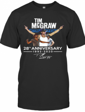 Tim Mc Graw 28Th Anniversary 1992 2020 Thank You For Your Memories T-Shirt
