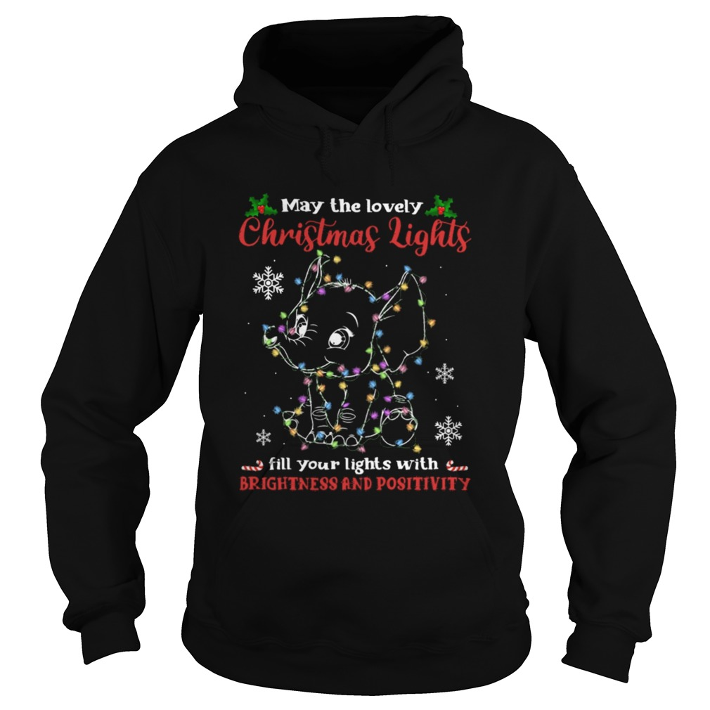 may the lovely Christmas lights fill your lights with brightness and positivity  Hoodie