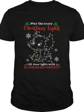 may the lovely Christmas lights fill your lights with brightness and positivity shirt