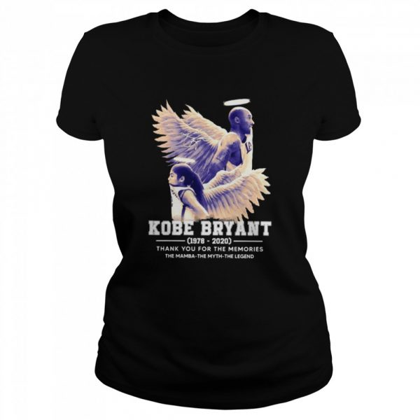 Kobe Bryant The Mamba The Myth The Legend thank you for the memories signature  Classic Women's T-shirt