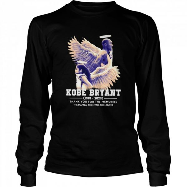Kobe Bryant The Mamba The Myth The Legend thank you for the memories signature  Long Sleeved T-shirt