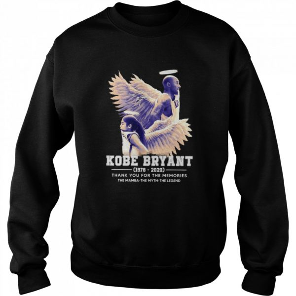 Kobe Bryant The Mamba The Myth The Legend thank you for the memories signature  Unisex Sweatshirt